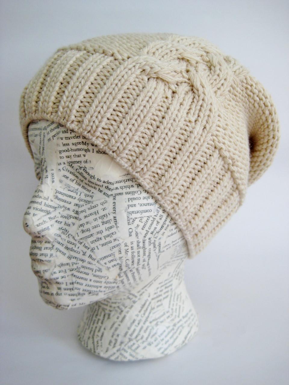 Slouchy winter hat for women. Loading zoom 640d8a2777