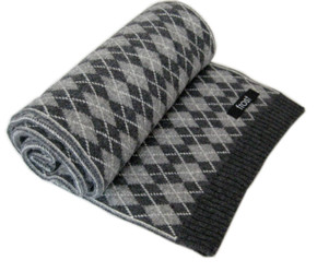Cashmere and wool scarf for men