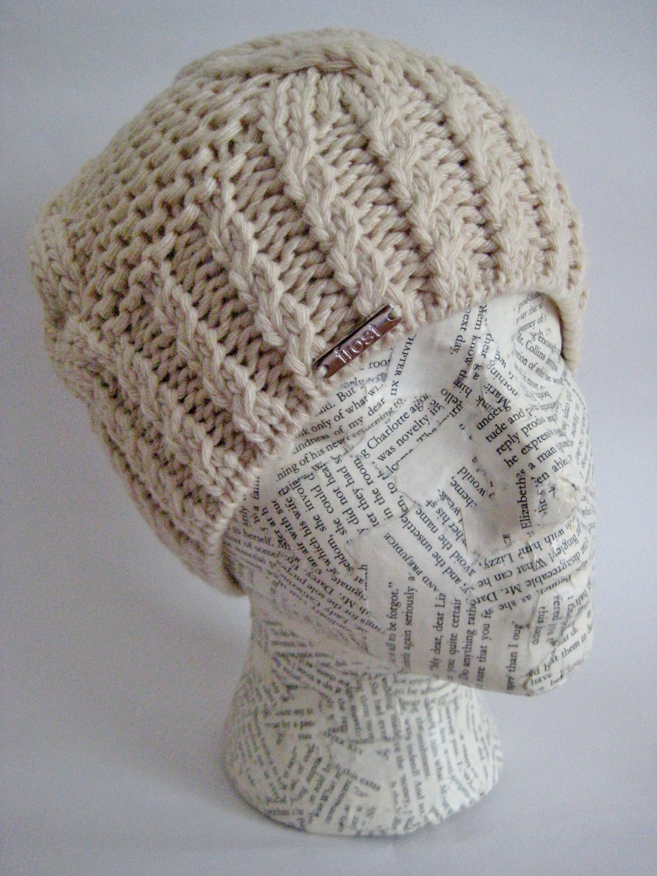 bb08a3bb257 Classic cable knit beanie hat for women. Loading zoom