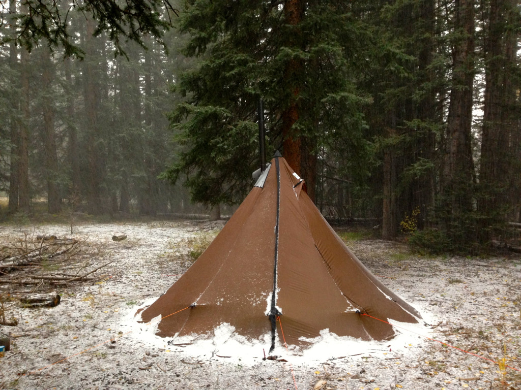 4 Person Ultralight Tipi With Wood Stove