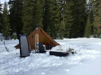 Redcliff Heated Shelter Winter Ski Pulk Trip