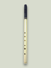 Tuneable Heavy Brass D Whistle (DX204) by Tony Dixon  [DISCONTINUED]
