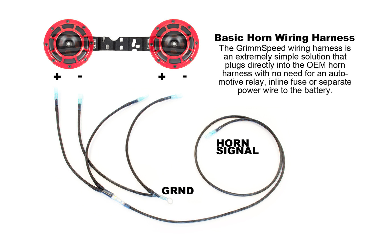 subaru starter package! hella horns & grimmspeed brotie ... subaru horn wiring diagram