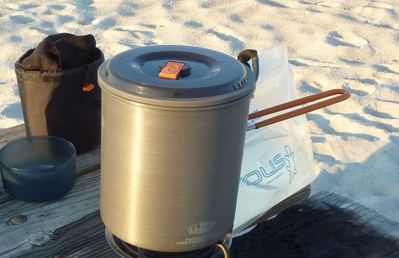 camp stove at elevation