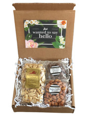 9 oz. salted gourmet Virginia peanuts, 4 oz. butter toffee peanuts, 4 oz. chocolate peanuts