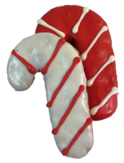 Large Candy Cane (Case of 18 treats red & white)