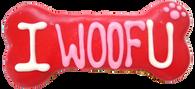 """""""I WOOF U"""" Bone (Case of 18 treats)"""