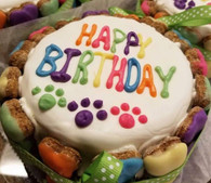 Happy Birthday Colorful Bone Cake Yogurt (Case of 4 cakes)