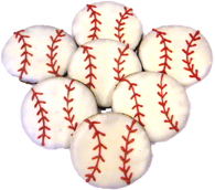 Baseballs (Case of 18 treats)