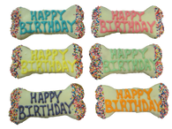 Happy Birthday Bones (Yogurt) (Case of 18 treats)