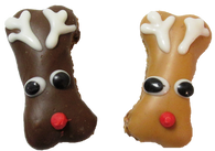 Mini Reindeer Bone (Case of 36 treats PB & Carob)
