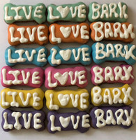 LIVE,LOVE,BARK Mini Bones (Case of 36) NEW!!!