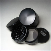 Space Case 4 Piece Grinder - Sifter - Small Titanium - Magnet