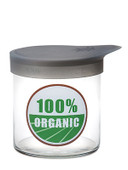 Wide Mouth Glass Jar (X-Large Pop Top) 100% Organic