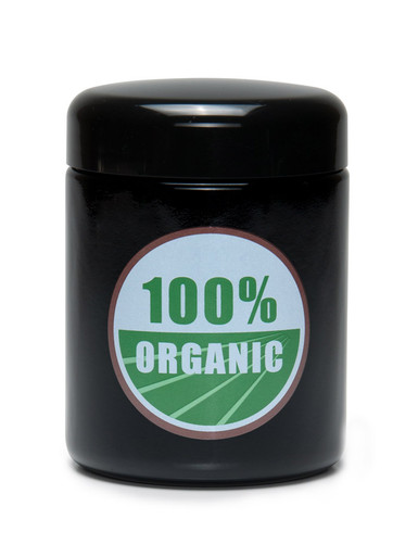 Large 100% Organic UV Screw Top Jar
