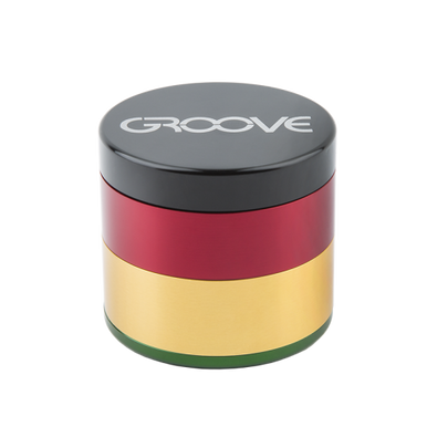 Groove 4 pc Grinder by Areospaced - Rasta