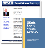 SEAK Expert Witness Directory Listing