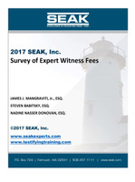 2017 Survey of Expert Witness Fees