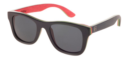 The Ollie Rasta, Canadian Maple Wood Sunglasses