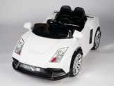 Racer X White 12V Ride On Car With Remote & MP3