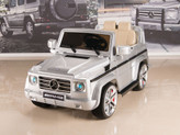 Mercedes G55 AMG 12V Kids Ride On Car w/ Remote, Silver