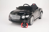 Bentley GTC 12V Ride On Kids Battery Powered Wheels Car RC Remote Black