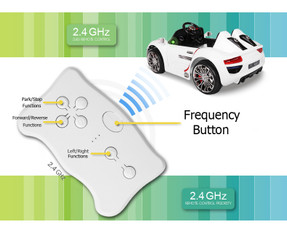 White Legacy Series remote for 2.4GHz receivers