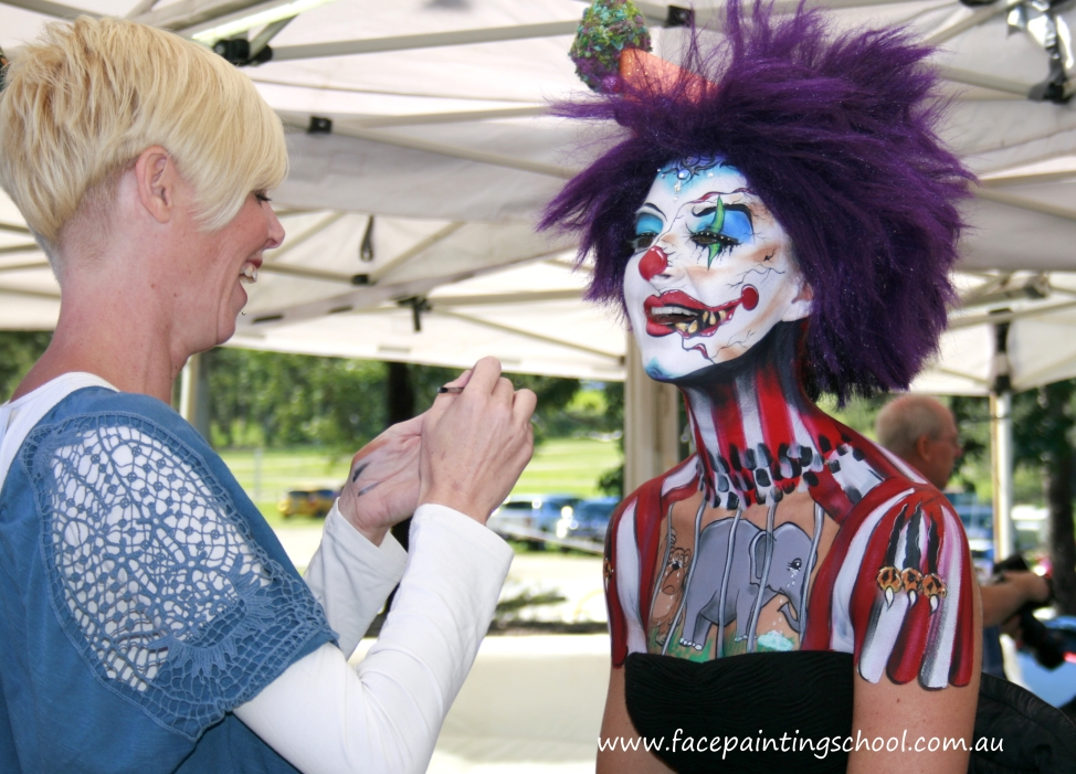 Round Up of the Australian Body Art Carnivale - Eumundi 2014 - Face