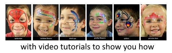 how to face paint cards