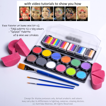 face paint set for fundraisers and birthday parties