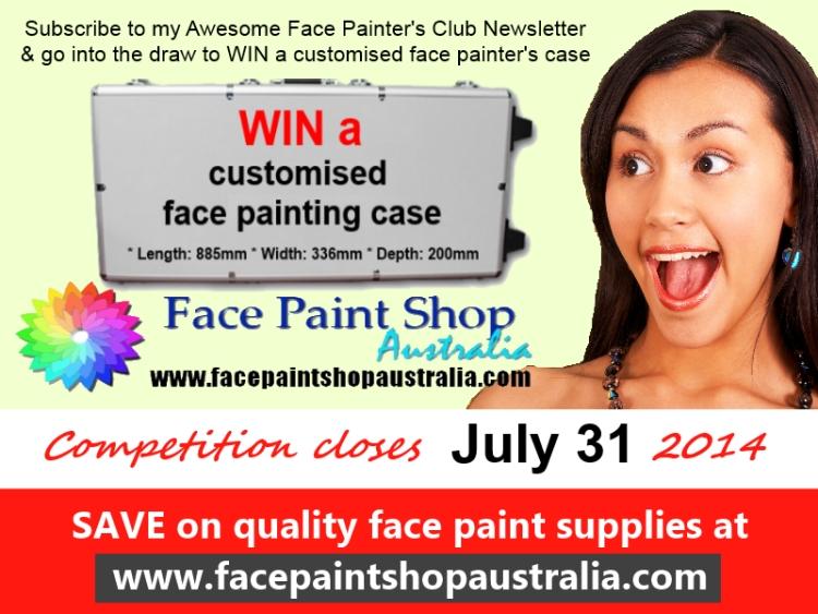 Mega Face Painting Case Giveaway Face Paint Shop Australia