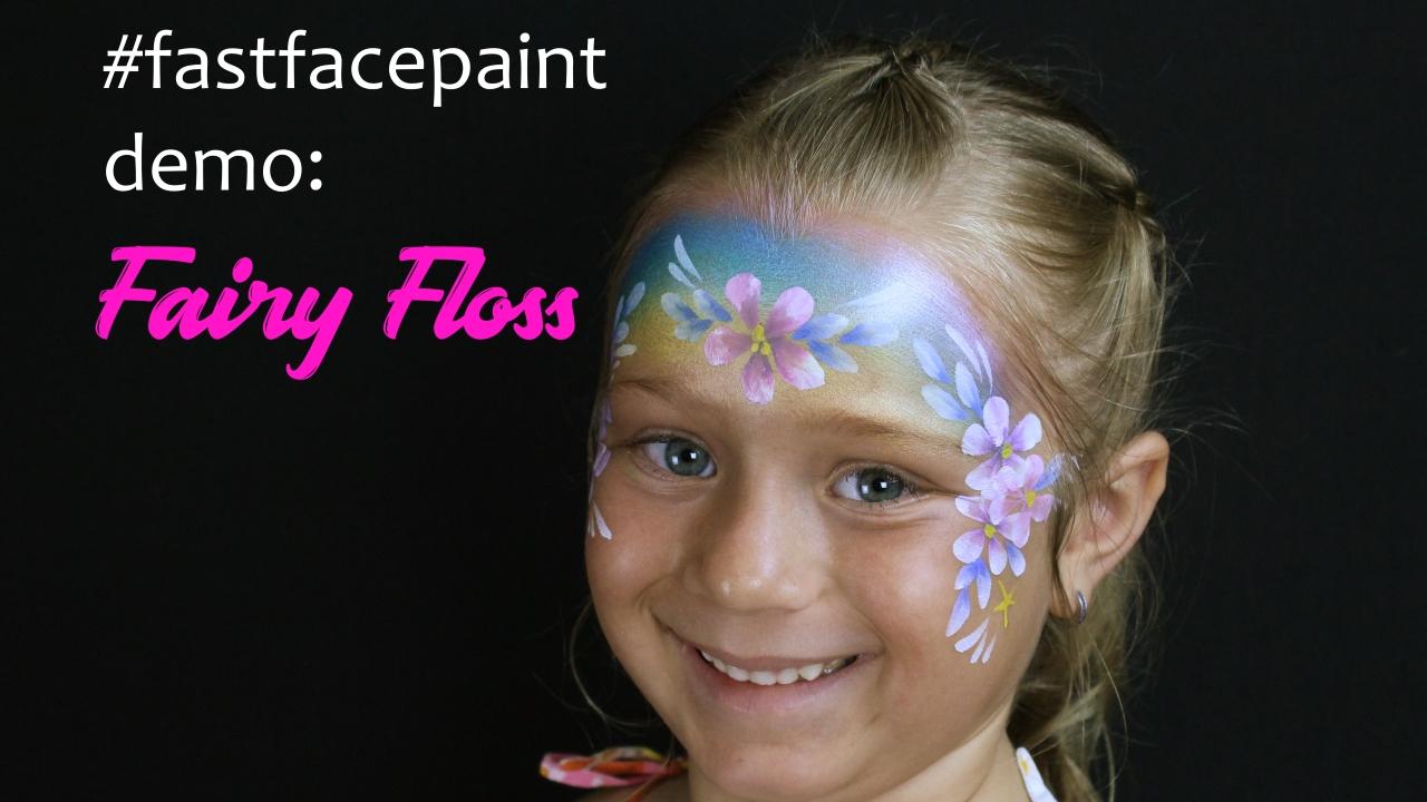 face paint fairy floss