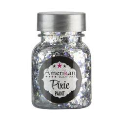 'Xanadu' Silver Pixie Paint Glitter Gel by Amerikan Body Art