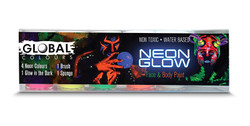 NEON GLOW SET Face and Body Art Paint 115ml by Global Colours
