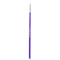 ROUND BRUSH SIZE 1 - NEW Acrylic Handle face paint brush by Art Factory