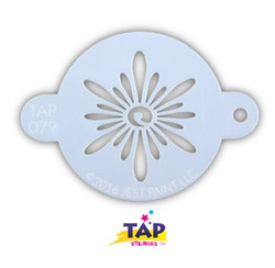 SUNBURST TAP 079 Face Painting Stencil