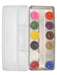 12x BRIGHT COLOURS Face Paint Palette 12x 5g by SUPERSTAR