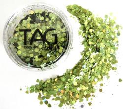 cosmetic chunky glitter green