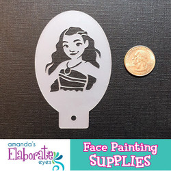 Moana - Reusable Face and Body Art Stencil 10163