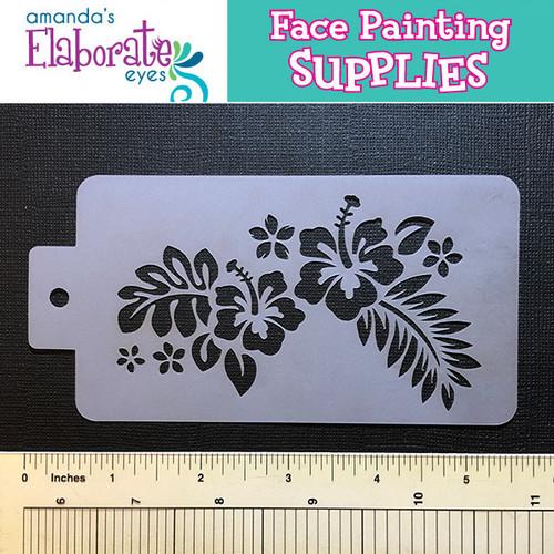 face paint stencil tropical flowers