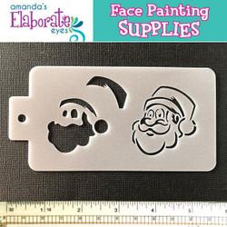 Santa Face - Reusable Face and Body Art Stencil 20050