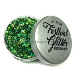 Green 'Dragon Scales' Festival Glitter by the Art Factory