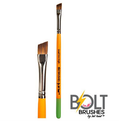 "BOLT Short Small FIRM Angle (1/4"")  Face Painting Brush by Jest Paint"