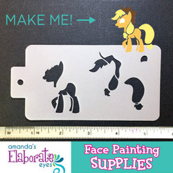 MLP Apple Jack - Reusable Face and Body Art Stencil 20041