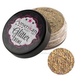 amerikan body art glitter creme stardust gold