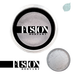PEARL METALLIC SILVER by Fusion Body Art face paint 25g