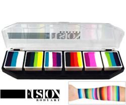 'Rainbow Burst' SPECTRUM PALETTE Fusion Body Art face paint 6x 10g mini cakes