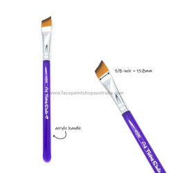 Angle brush 5/8 inch - acrylic handle by Art Factory face paint brushes
