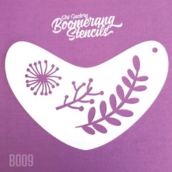 BOHO LEAVES by Boomerang Face Painting Stencil