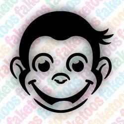 Curious George glitter tattoos stencils (x6) by Faketoos